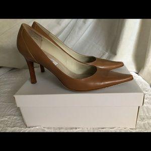 Calvin Klein Lucia Kid Heels - Size 7.5 (Camel)